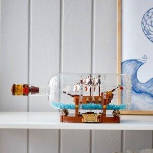 现价$99(原价$119)闪购:LEGO 瓶中船 92177 复刻版