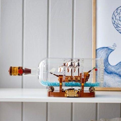 现价$95(原价$119)闪购:LEGO 瓶中船 92177 复刻版