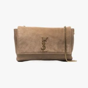 Saint LaurentBeige Kate reversible suede leather shoulder bag