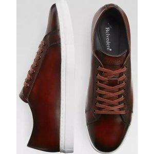BelvedereJames Brown Leather Sneakers