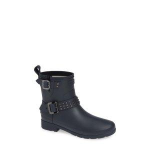 Hunter铆钉机车款雨靴