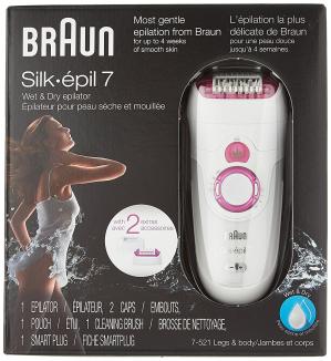 限时特价$67.49(原价$109.99)Braun Silk-Epil 7521 女士丝滑干湿两用脱毛器 粉色款
