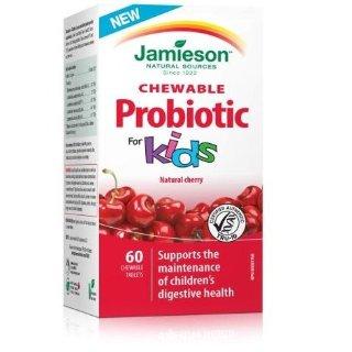 $11.93(原价$20.97)Jamieson 儿童天然樱桃味益生菌咀嚼片 促消化提高抵抗力