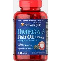 Puritan's Pride Omega-3 鱼油胶囊 1200 mg 100 粒