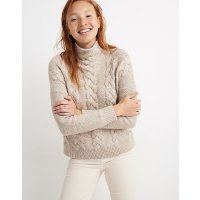 Madewell Grenville Cableknit Mockneck Sweater