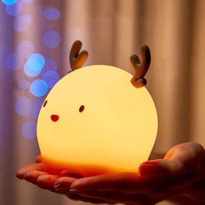 7.8折起 孩子起夜可携带Amazon 精选Q萌动物LED小夜灯热卖 硅胶柔软触感不含BPA