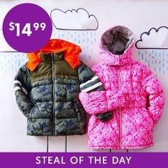全部$14.99Zulily 儿童保暖外套低价闪购 反季囤货更划算