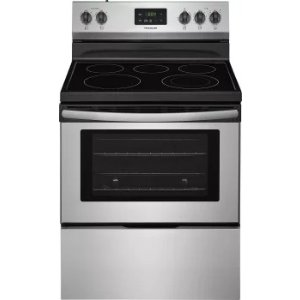 Frigidaire FFEF3052TS 30 Inch Freestanding Electric Range with Quick Boil, SpaceWise® Elements, Store-More™ Drawer, Keep Warm, 5 Heating Elements and 4.9 cu. ft. Capacity