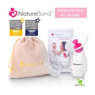 NatureBond Silicone Breastfeeding Manual Breast Pump Milk Saver Suction