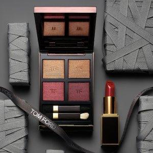 最高送$500礼卡Tom Ford 美妆护肤品  收四色眼影、新款白管