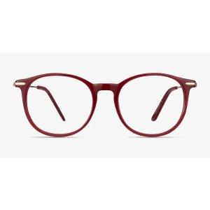 EyeBuyDirectQuill | Red | Women Acetate Eyeglasses | EyeBuyDirect