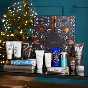 $198(价值$365)开抢:Mankind 2020护肤圣诞日历 含Marvis、Medik8等12件好物