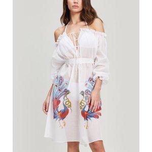 Liberty London单肩棉质连衣裙