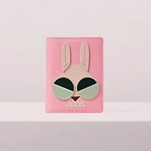 Kate Spade拼色兔子卡包