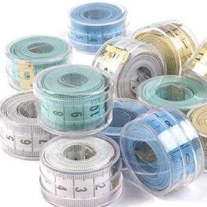 仅€2.99 附带小收纳盒家中必备测量软尺 150 cm长 英寸厘米可切换 保持身材也需要