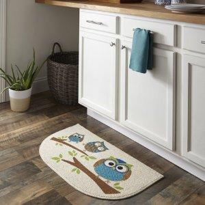 $5Mainstays Owl Branches Kitchen Mat @ Walmart