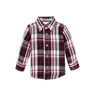 Burt's Bees Baby婴童有机棉格子衬衫