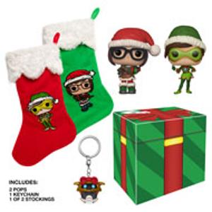 $9.99(原价$19.97)《守望先锋》冰雪节礼盒 内含猎空 & 小美 & 钥匙链 & 圣诞袜
