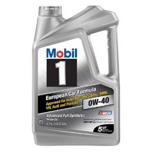 Mobil 10W-40 欧洲车专用 高级全合成机油 5夸脱