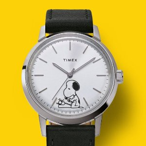 $119起 $299收封面款机械表上新:Timex x 史努比联名款手表 可爱与优雅并存