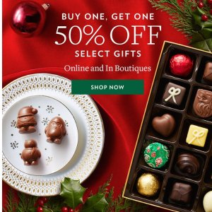 Buy 1 Get 1 50% OffSelect Gifts @ Godiva