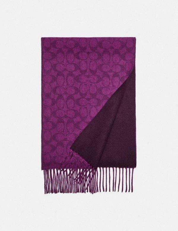 老花羊绒围巾