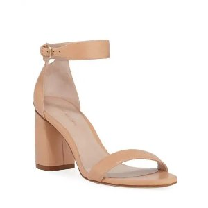 Stuart WeitzmanPartlynude Leather Ankle-Strap Sandals
