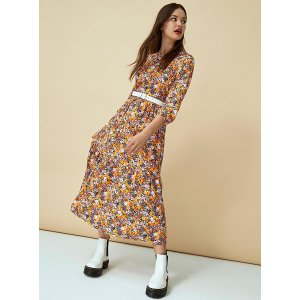 Eco-friendly viscose peasant dress