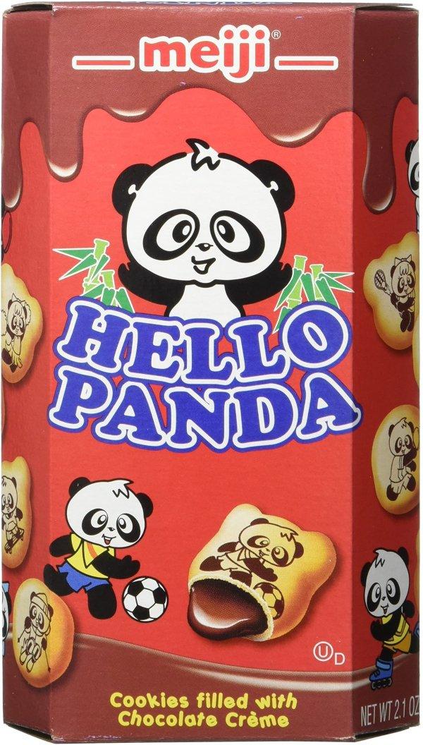 Meiji明治 熊猫巧克力夹心饼干 2.1Oz 10盒