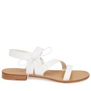 Mansur Gavriel白色皮革凉鞋
