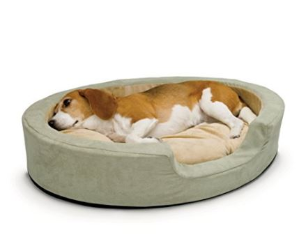 $35.52(原价$129)K&H Manufacturing 可加热中号椭圆形宠物睡垫