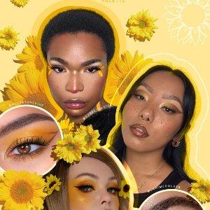 眼影盘、眼线笔、唇蜜等都有Colourpop Sunflower向日葵系列开售 满眼都是夏天的味道