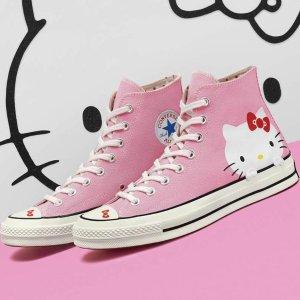 7.5折 $41收高帮款Converse X Hello Kitty 合作款特卖 少女们尖叫吧