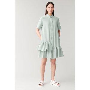 COS薄荷绿连衣裙