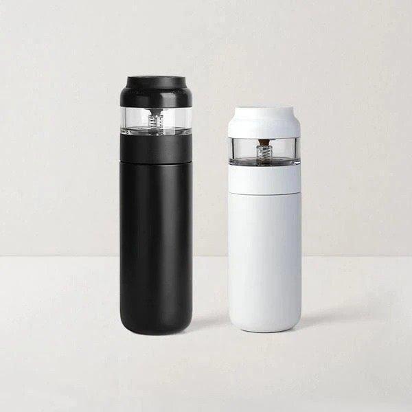 茶水分离不锈钢保温杯 黑色保温杯500ml