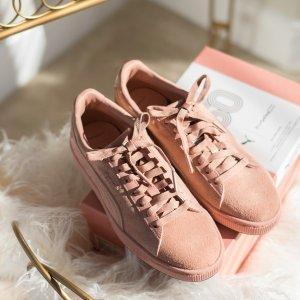 低至3.5折+会员两日送达Puma官网 Suede系列潮流运动鞋促销 Hello Kitty合作款也参加