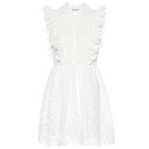 Self-PortraitEyelet cotton-blend minidress