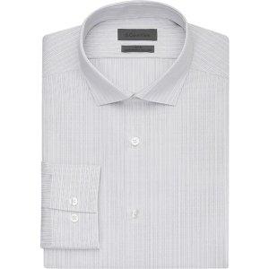 Calvin Klein3件$89灰色条纹衬衫