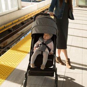 全场8折 婴儿车$239.99收Guzzie+Guss 儿童折叠推车 宝宝安全带舒适座椅 可登机