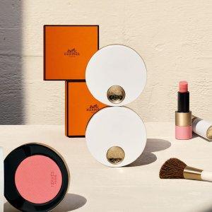 €31.5起 口红、腮红都有Hermes爱马仕 春夏玫瑰限定彩妆今日新鲜发售 奶乎乎桃粉系列