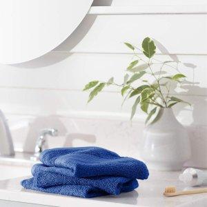 AmazonBasics 100%纯棉防褪色快干毛巾 12条