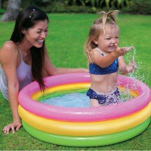Amazon Intex Sunset Glow Baby Pool (34 in x 10 in)
