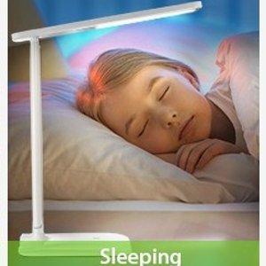 $21.69(原价$34.99) 2色可选史低价:TOPELEK  LED护眼台灯 九种照明模式 冷暖光调节