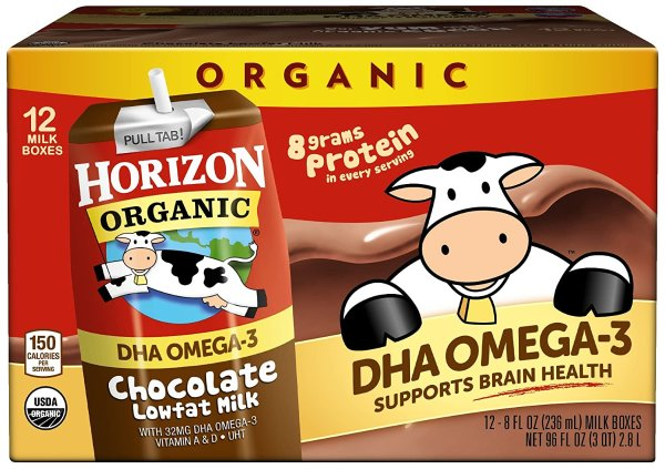 Horizon Organic 低脂巧克力有机奶 12瓶装