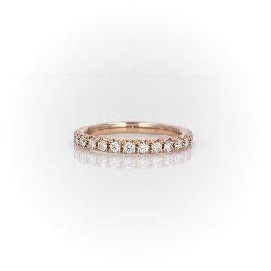 Blue Nile14k玫瑰金法式钻石戒指
