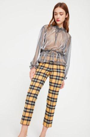Style Mafia Yellow Tartan Trousers