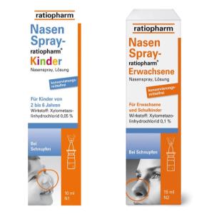 儿童款仅€1.58  2-6岁适用Ratiopharm 通鼻喷雾 适用于急慢性/过敏性鼻炎 一喷就通气