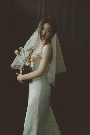 亲爱的白正品《云兮》结婚礼领证复古轻婚纱旅拍短新娘头饰小头纱-淘宝网