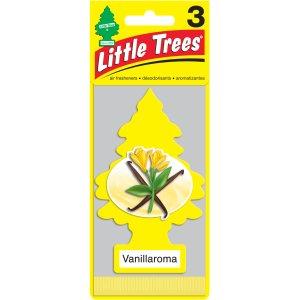Little Trees Car Air Freshener, Vanillaroma, 3 pk - Walmart.com