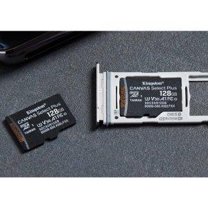64GB $9.99, 128GB $14.99Kingston Canvas Select Plus MicroSD Card